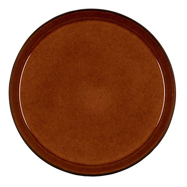 Bitz-plate-black-amber-ocher-yellow-27-cm