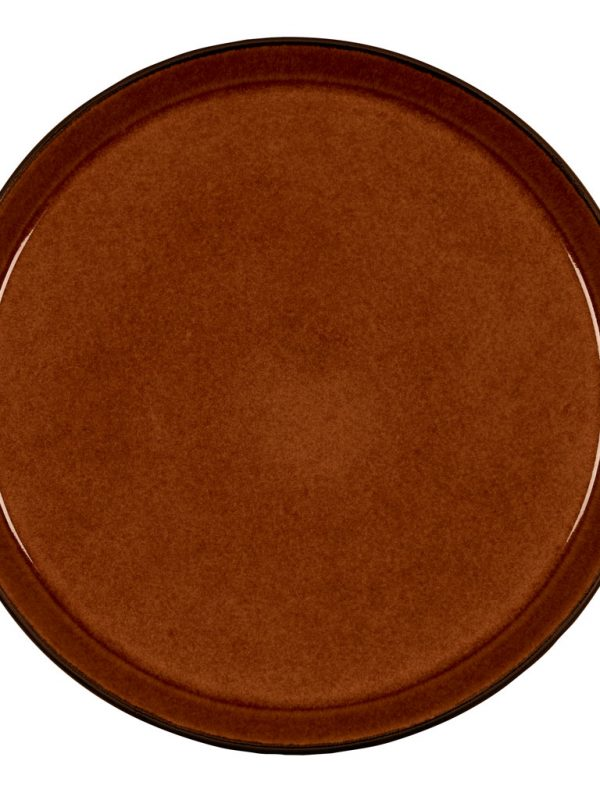 Bitz-bord-zwart-amber-okergeel-27-cm