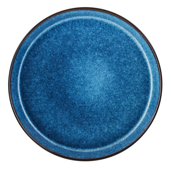 Bitz-plate-black-dark blue-27-cm