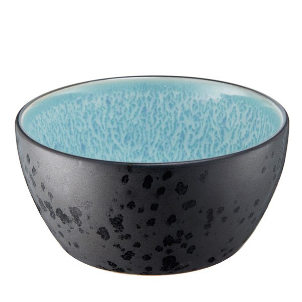 Bitz bowl-6cm-high-black-light blue-12cm