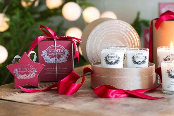 Klinta cadeaubox drie kerst geurkaarsen 2