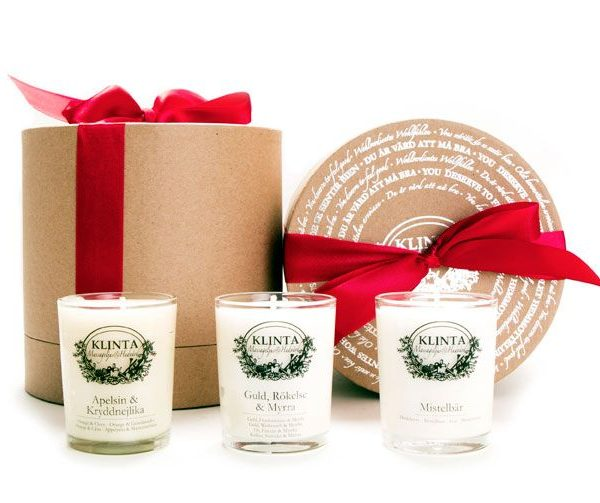 Klinta gift box three Christmas scented candles