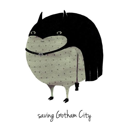 a grape design Batman