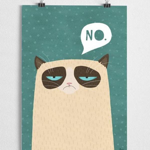 Poster mürrische Katze
