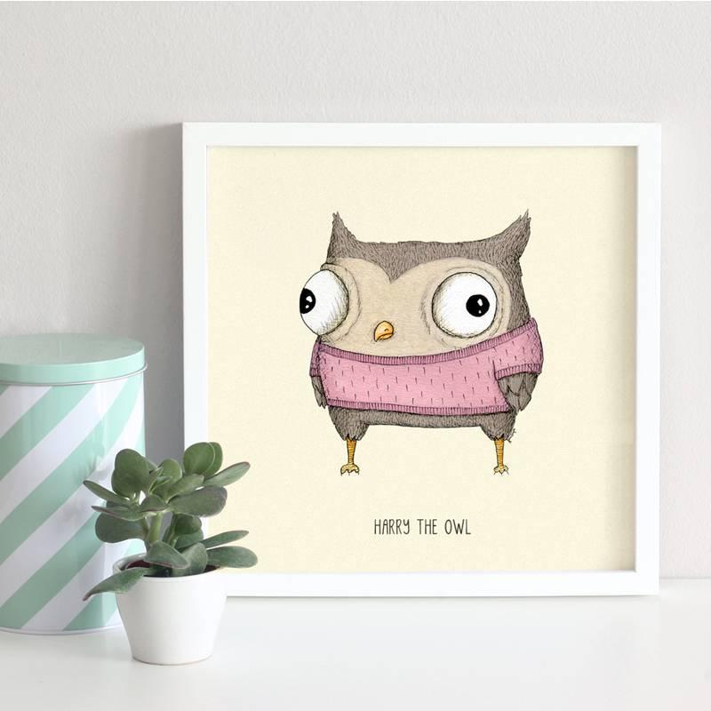 poster owl nursery 2