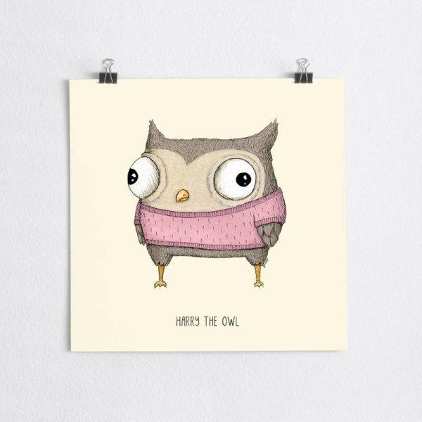poster owl nursery