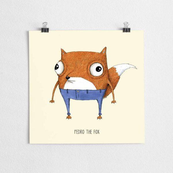 poster nursery fox