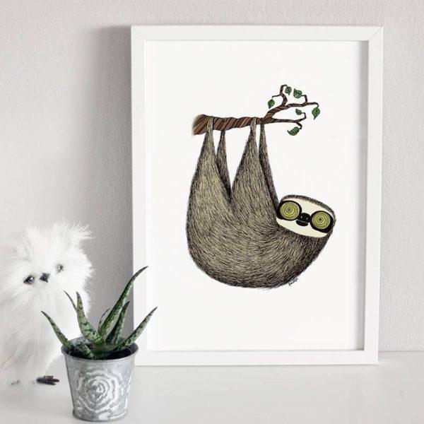 Poster Sloth Nursery 2