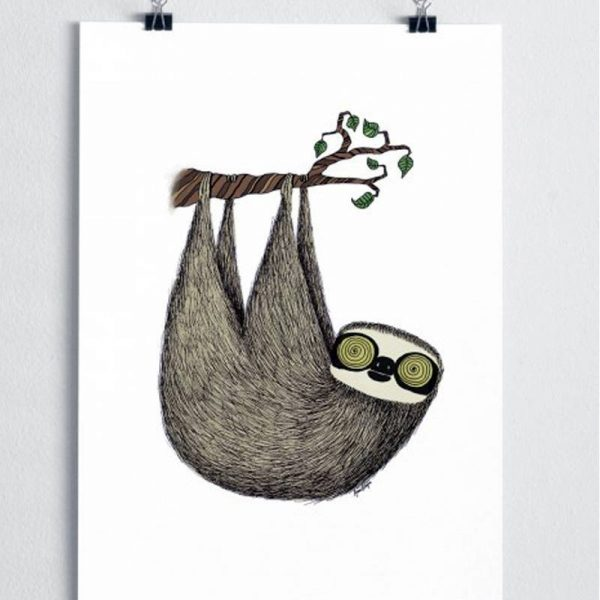 Poster Sloth Nursery