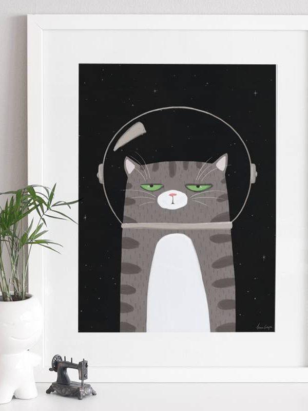 Poster Kinderkamer Kat 2