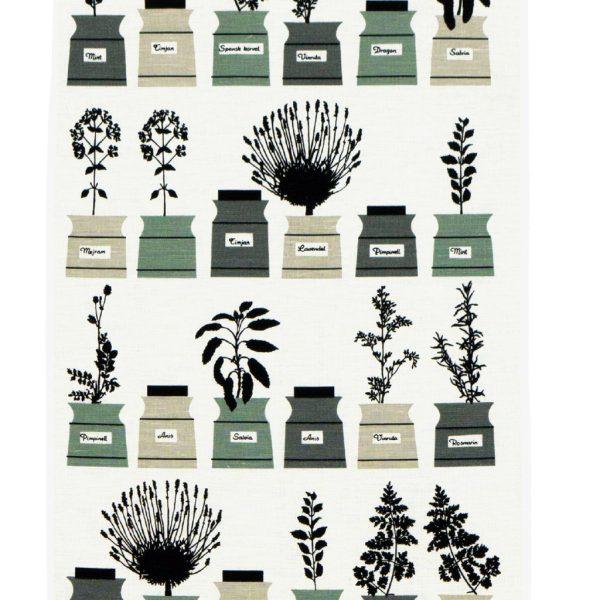 almedahls-tea towel-spice jars-green-gray-nordicliving