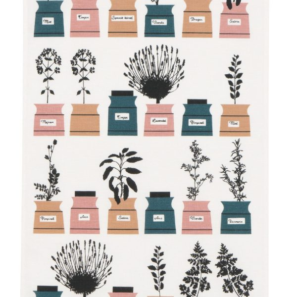 almedahls-tea towel-spice rack-green-rose-kryydskap-nordicliving