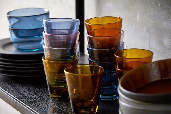 bitz design colored water glasses