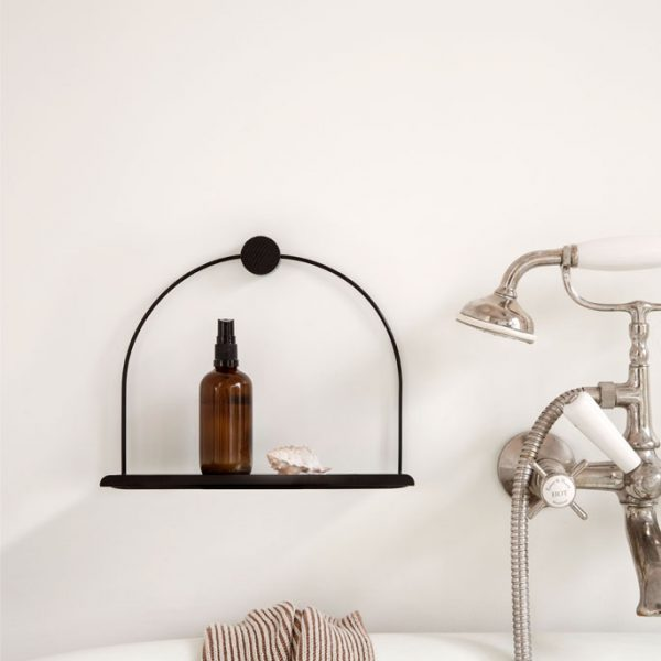 firm-living-bathroom-wall shelf-black-nordicliving