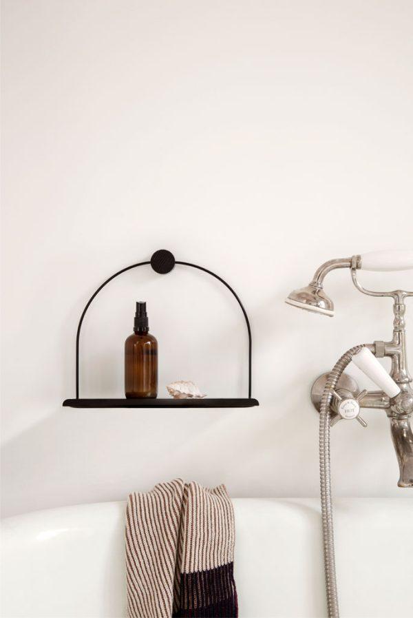 firm-living-bathroom-wall shelf-black-nordicliving