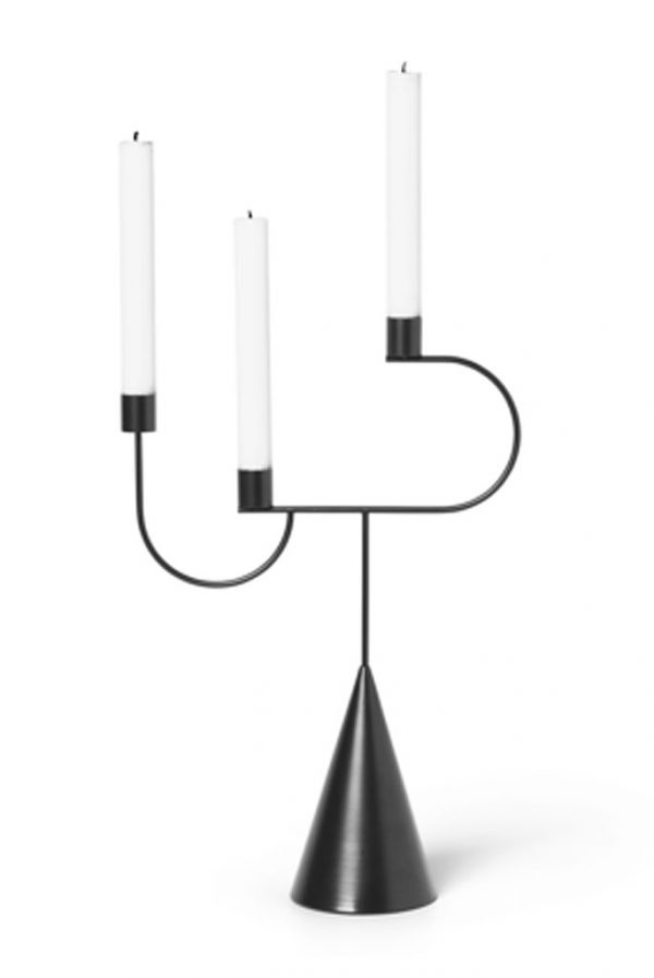 ferm-living-kandelaar-candelabra-zwart
