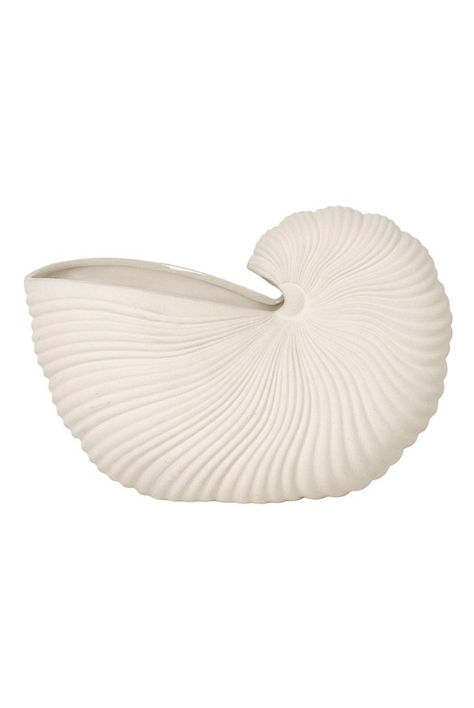 ferm-living-shell-pot-offwhite vase