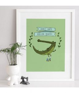 Grafische print Krokodil 2