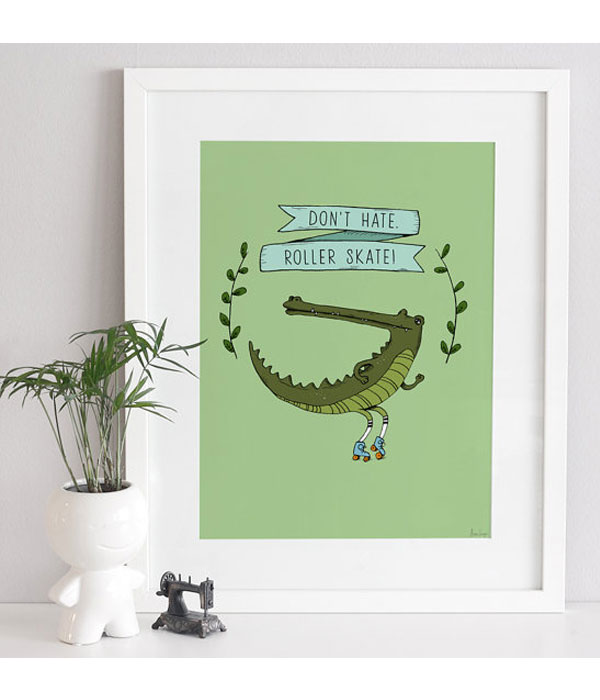 Graphic print Crocodile 2