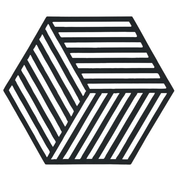 zone-denmark-onderzetter-zwart-hexagon