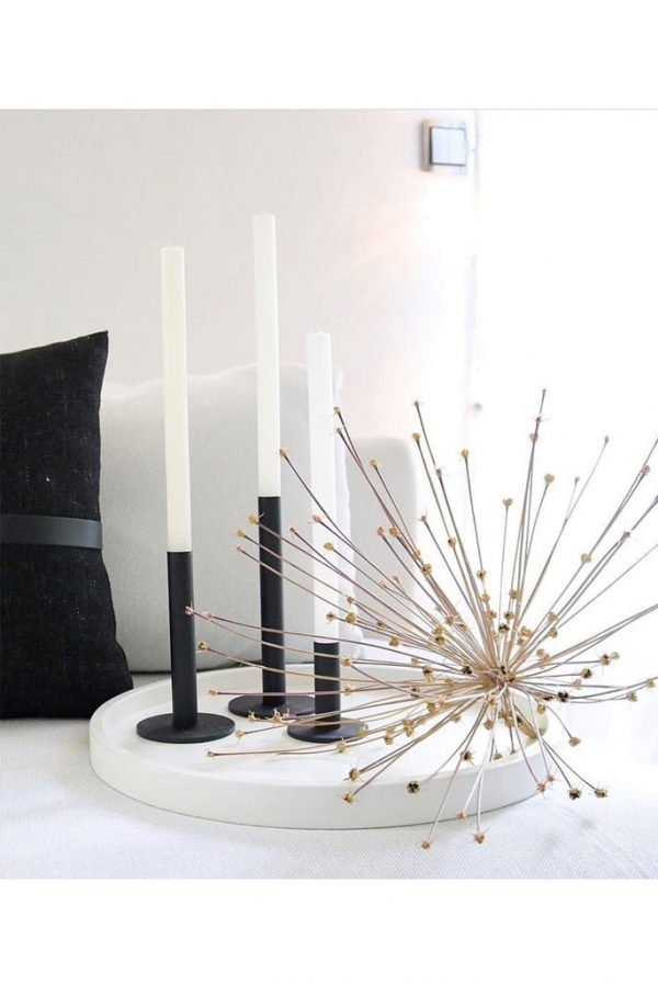 black candlesticks from denmark nordicliving
