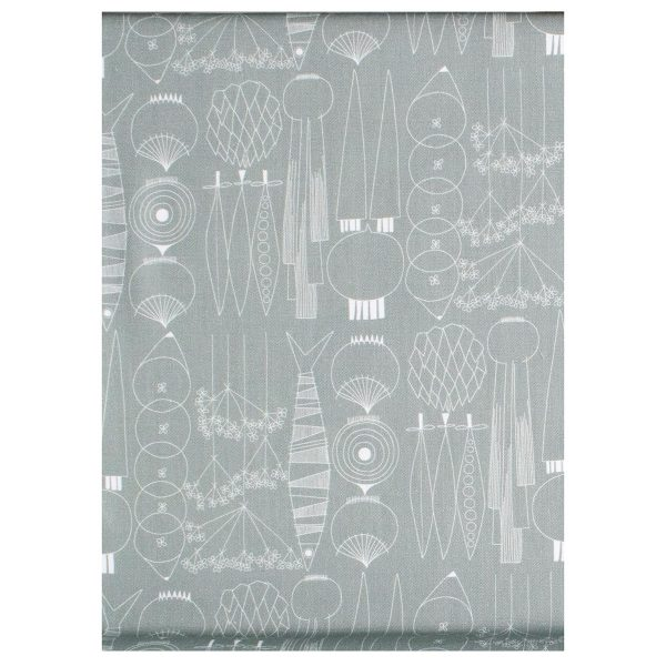 Almedahl's picnic tablecloth in green and gray