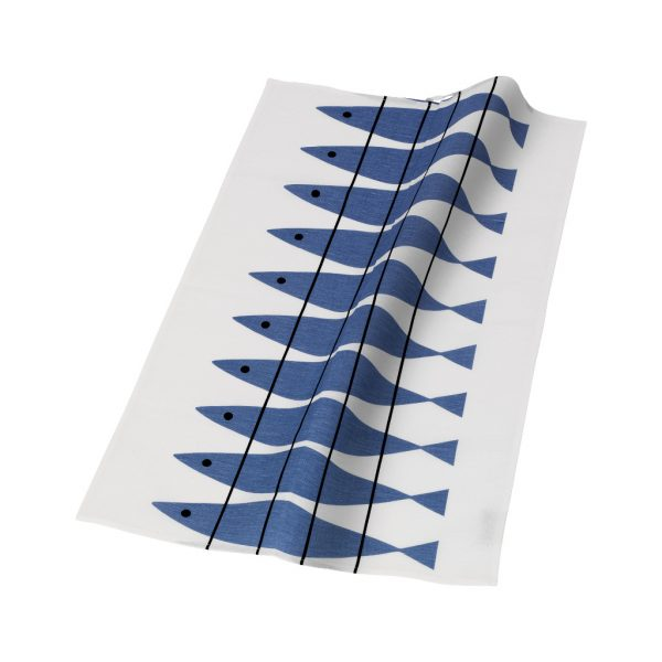 Almedahls-tea towel-Haring-blue