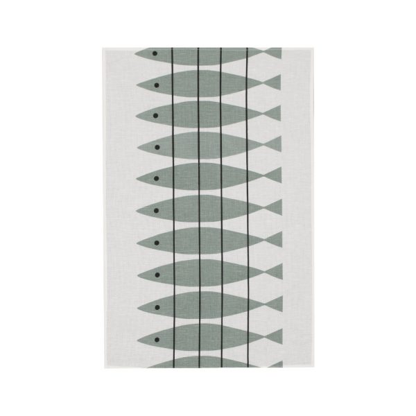 Almedahls tea towel Haring green-gray