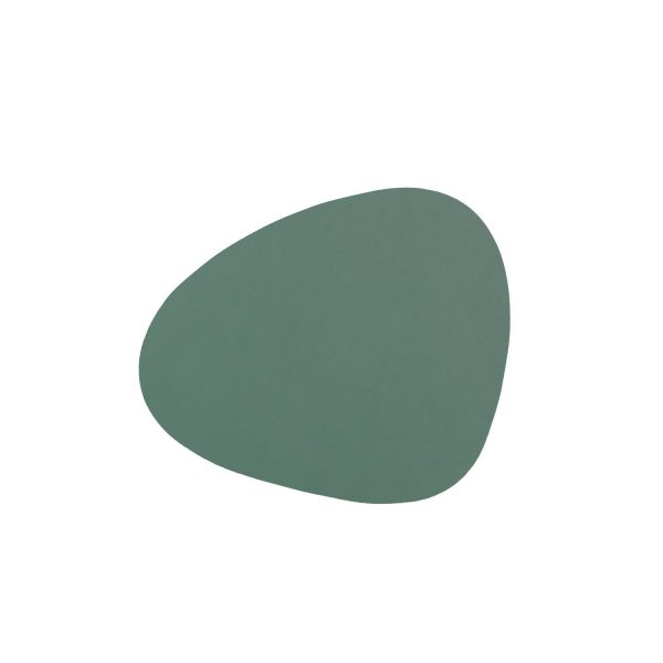 Lind DNA leather coasters Curve in pastel green
