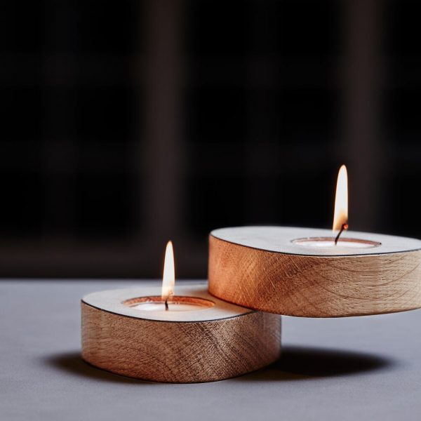 Lind DNA tea light holders set of two