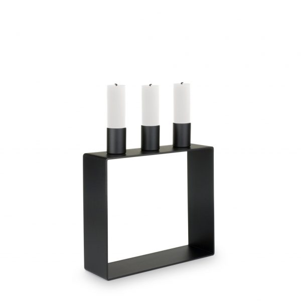 Novoform - Kandelaar zwart voor 3 kaarsen