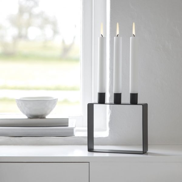 Novoform - zwarte Kandelaar voor 3 kaarsen