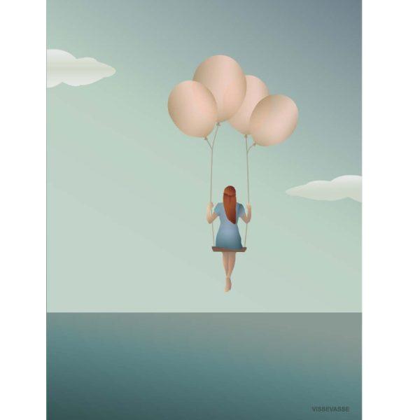 Vissevasse Poster Balloon Dream