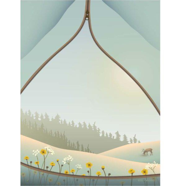 Vissevasse Poster Camping