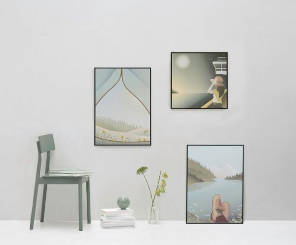 Vissevasse Poster Tent With A View 30x40cm