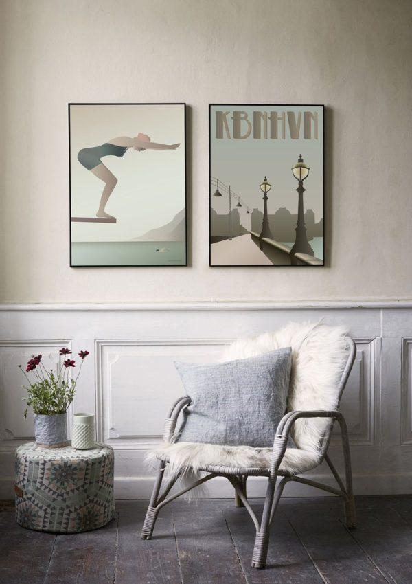Vissevasse Poster The Swimmer 50x70cm 2