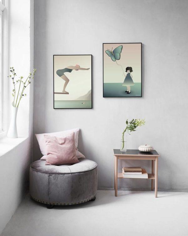 Vissevasse Poster The Swimmer 50x70cm