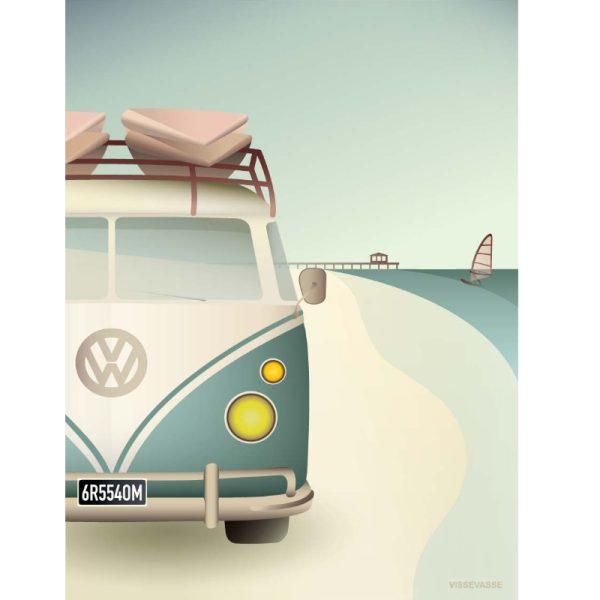 Vissevasse Poster Volkswagen Camper