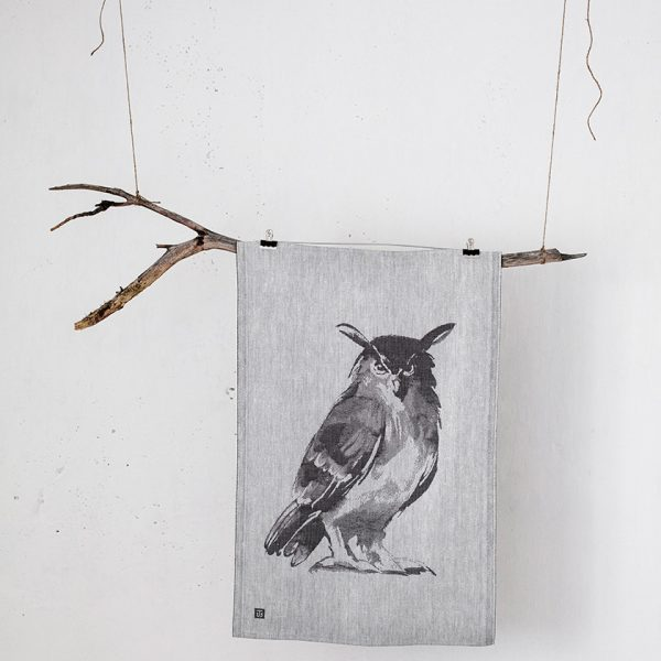 lapuan-kankurit-tea-towel-gray-owl-3