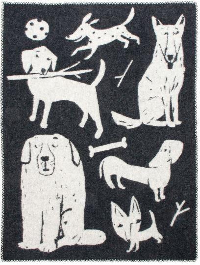 lapuan_kankurit_koirapuisto-blanket-dog-black and white