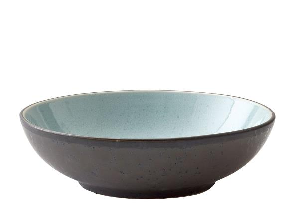 Bitz pasta dish light blue black, 20cm diameter